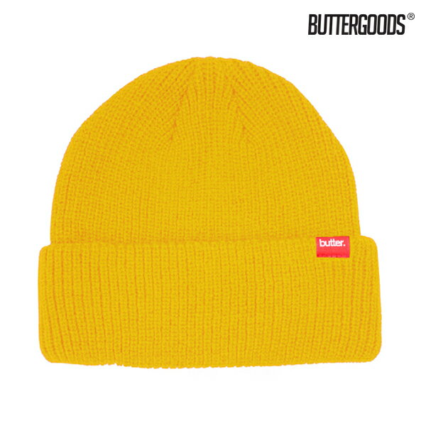 【BUTTER GOODS】WHARFIE BEANIE カラー:yellow 【バターグッズ】【スケートボード】【キャップ/ビーニー】