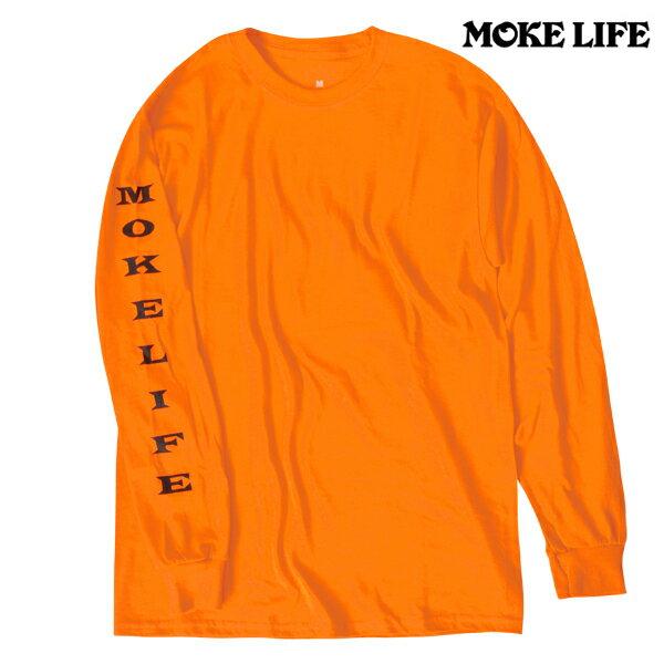 【MOKE LIFE】SIMPO L/S tee カラー:construction 【モークライフ】【スケートボード】【Tシャツ/長袖】