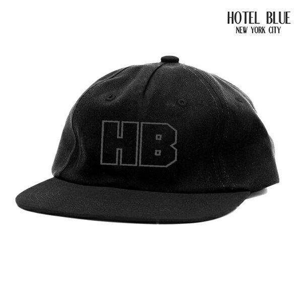 【HOTEL BLUE】HB cap カラー:black 【ホテルブルー】【スケートボード】【キャップ/帽子】