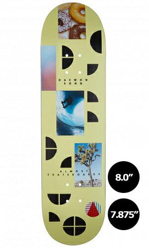 【Almost】Daewon Song FRAGMENTS 【オールモスト】【スケートボード】【デッキ】【7.875/8.0インチ】選べる無料のデッキテープ付き!