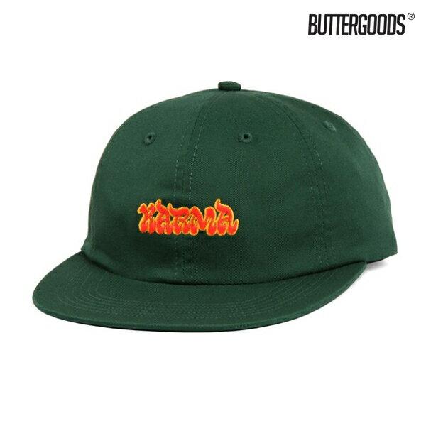 【BUTTER GOODS】KARMA 6PANEL CAP カラー:spruce 【バターグッズ】【スケートボード】【キャップ/帽子】