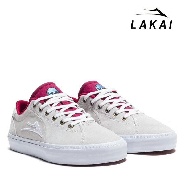 【LAKAI】FLACO 2 <Stevie Perez SignatureModel>カラー:white/red suede 【ラカイ】【スケートボード】【シューズ】
