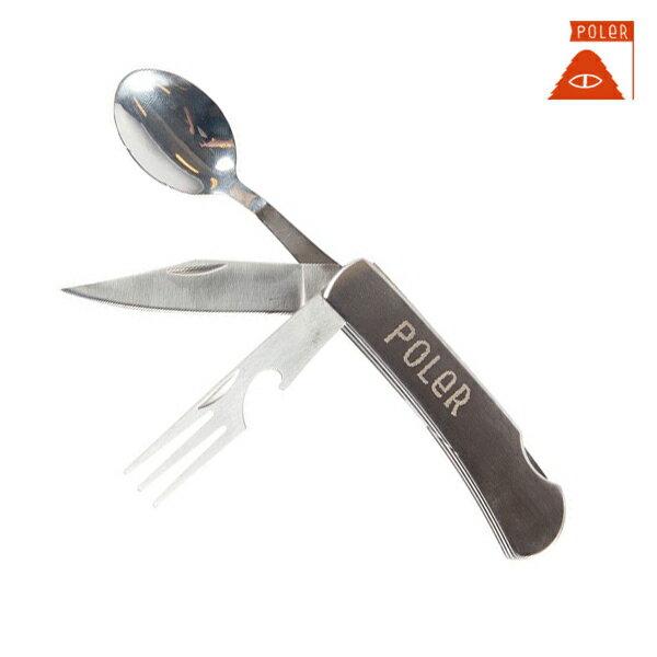 【POLER】FURRY FONT HOBO KNIFE カラー:siver 【ポーラー】【スケートボード】【ユーティリティーナイフ/小物】