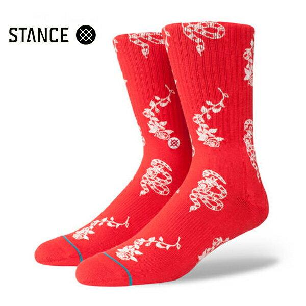 【STANCE】ROSSA カラー:red 【スタンス】【スケートボード】【靴下/ソックス】