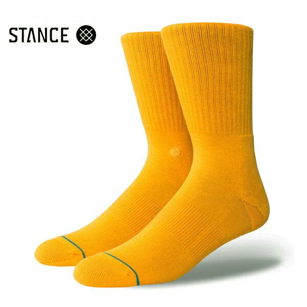 【STANCE】ICON カラー:gold 【スタンス】【スケートボード】【靴下/ソックス】