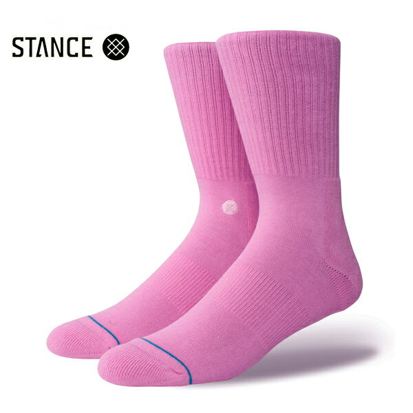 【STANCE】ICON カラー:saturated pink 【スタンス】【スケートボード】【靴下/ソックス】