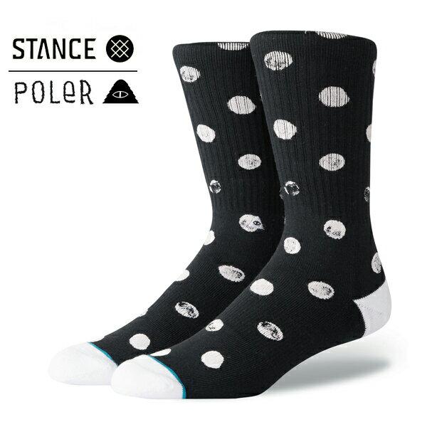 【STANCE×POLER】DOT VIBES カラー:black 【スタンス】【スケートボード】【靴下/ソックス】