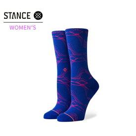 【STANCE】WOMEN'S FLUID CREW カラー:blue スタンス ソックス 靴下 レディース 女性 スケートボード スケボー SKATEBOARD