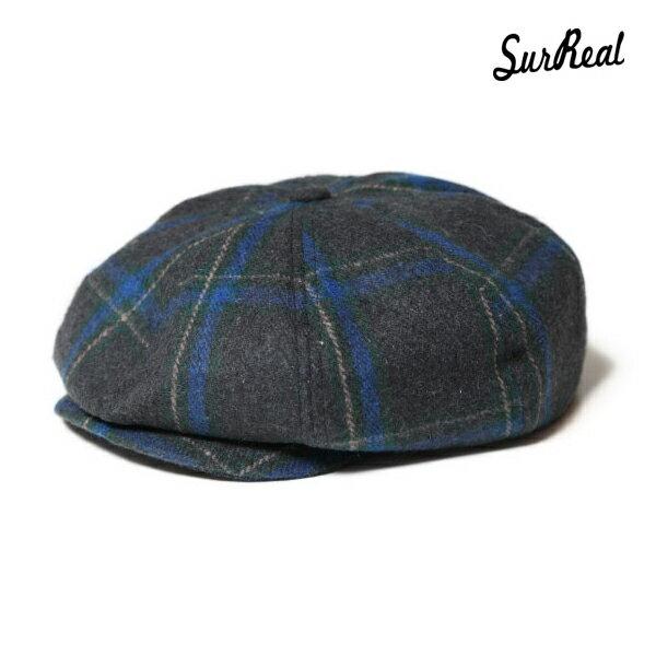 【SURREAL】SIMON -Newsboy Cap- カラー:chk 【シュルリアル】【スケートボード】【キャップ/帽子】