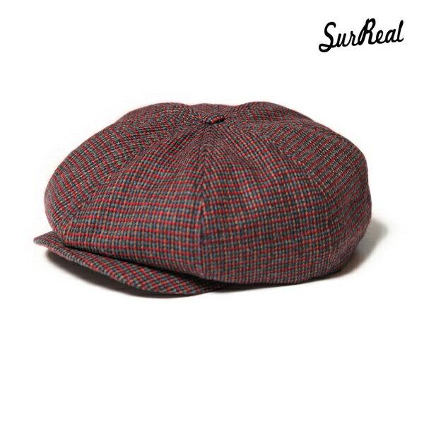【SURREAL】SIMON -Newsboy Cap- カラー:bug 【シュルリアル】【スケートボード】【キャップ/帽子】