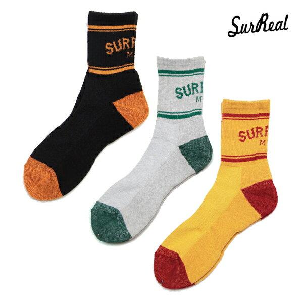 【SURREAL】DAN -Cotton Socks- カラー:grn/bug/org 【シュルリアル】【スケートボード】【靴下/ソックス】