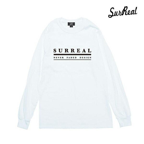 【SURREAL】ALLEN -Print L/S T-shirt-カラー:wht 【シュルリアル】【スケートボード】【ロングスリーブ】