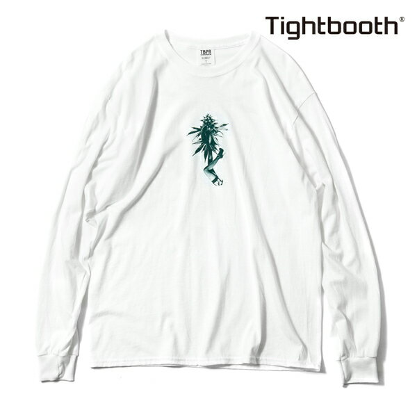【TBPR/TIGHTBOOTH PRODUCTION】 BUDS L/S T-SHIRT カラー:white 【タイトブースプロダクション】【スケートボード】【Tシャツ/長袖】