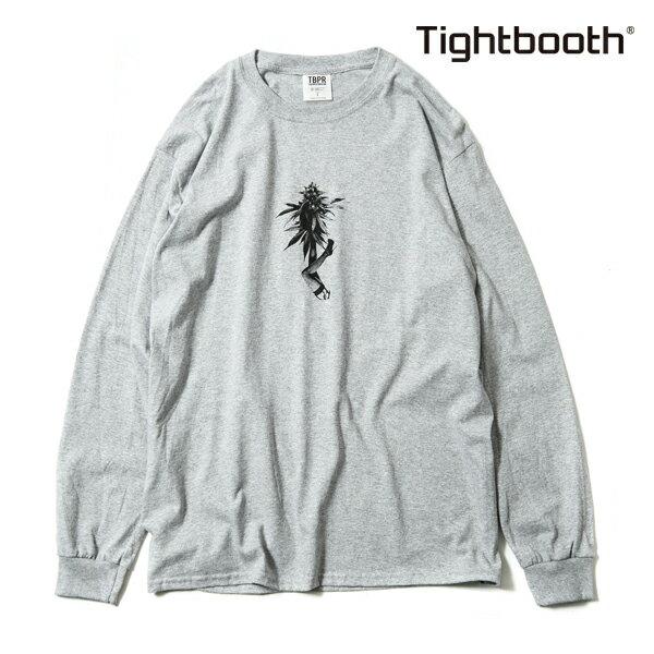 【TBPR/TIGHTBOOTH PRODUCTION】 BUDS L/S T-SHIRT カラー:grey 【タイトブースプロダクション】【スケートボード】【Tシャツ/長袖】