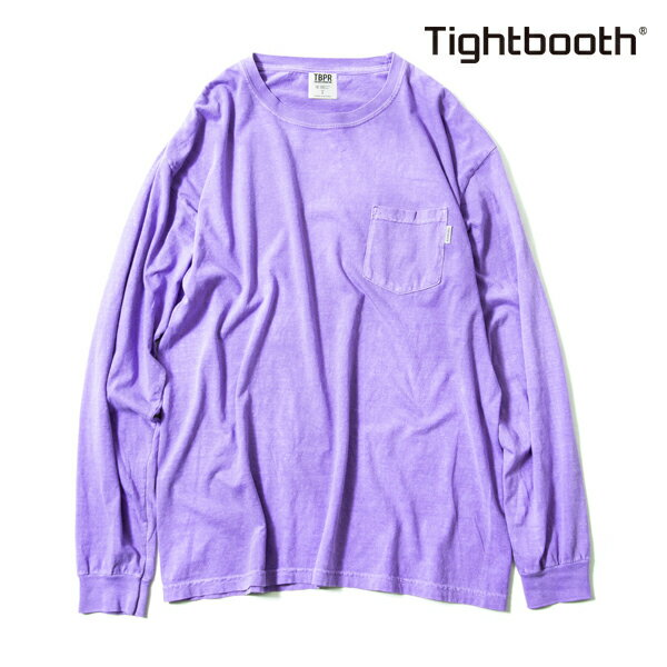 【TBPR/TIGHTBOOTH PRODUCTION】 GARMENT DYED LONG SLEEVE カラー:sumire 【タイトブースプロダクション】【スケートボード】【Tシャツ/長袖】