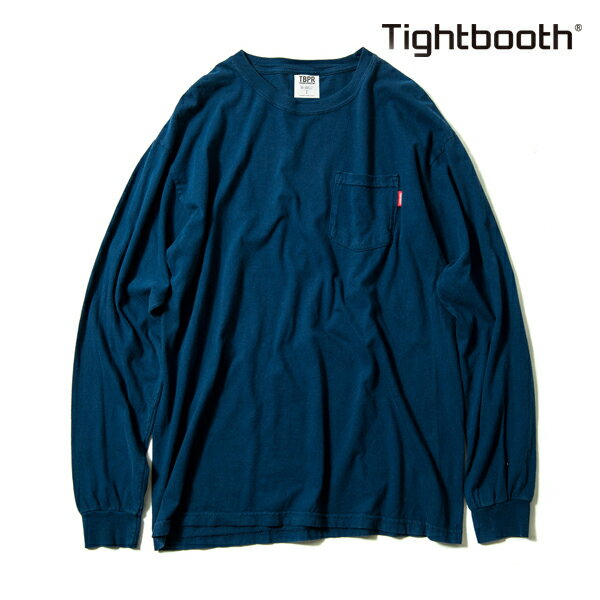 【TBPR/TIGHTBOOTH PRODUCTION】 GARMENT DYED LONG SLEEVE カラー:navy 【タイトブースプロダクション】【スケートボード】【Tシャツ/長袖】