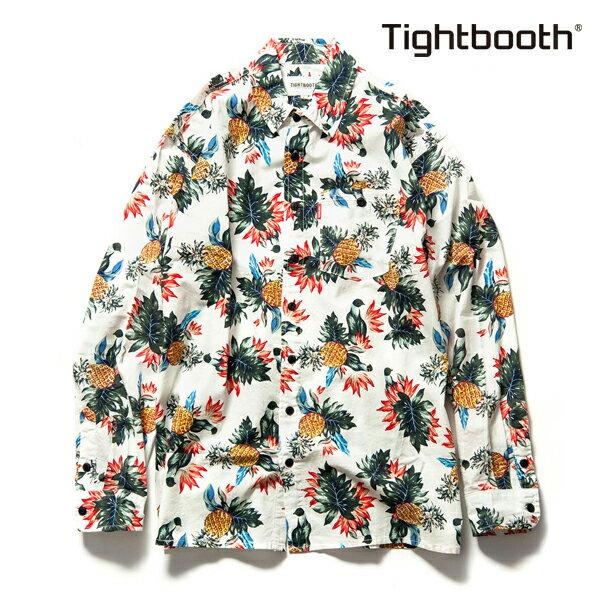 【TBPR/TIGHTBOOTH PRODUCTION】CHIMPIRA SHIRT カラー:white 【タイトブースプロダクション】【スケートボード】【シャツ/長袖】