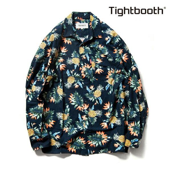 【TBPR/TIGHTBOOTH PRODUCTION】CHIMPIRA SHIRT カラー:navy 【タイトブースプロダクション】【スケートボード】【シャツ/長袖】