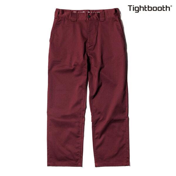 【TBPR/TIGHTBOOTH PRODUCTION】STRETCH PANTS HIGH END カラー:wine 【タイトブースプロダクション】【スケートボード】【パンツ/チノ】
