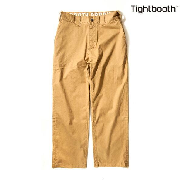 【TBPR/TIGHTBOOTH PRODUCTION】STRETCH PANTS HIGH END カラー:khaki 【タイトブースプロダクション】【スケートボード】【パンツ/チノ】