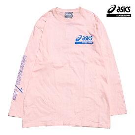 【asics skatebording】SK8 LONG SLEEVE TOP カラー:light pink アシックス スケートボーディング Tシャツ 長袖 スケートボード スケボー SKATEBOARD