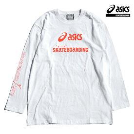 【asics skatebording】SK8 LONG SLEEVE TOP カラー:brilliant whiteアシックス スケートボーディング Tシャツ 長袖 スケートボード スケボー SKATEBOARD