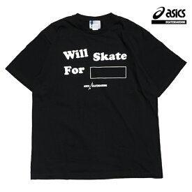 【asics skatebording】SK8 SHORT SLEEVE TOP カラー:performance black アシックス スケートボーディング Tシャツ 半袖 スケートボード スケボー SKATEBOARD