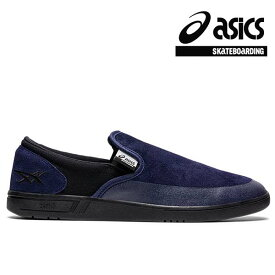 【asics skatebording】GEL-VICKKA SLIP-ON カラー:peacoat/blackアシックス スケートボーディング スリッポン スケボー シューズ 靴 スニーカー SKATEBOARD SHOES