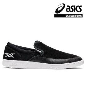 【asics skatebording】GEL-VICKKA SLIP-ON カラー:black/white アシックス スケートボーディング スリッポン スケボー シューズ 靴 スニーカー SKATEBOARD SHOES