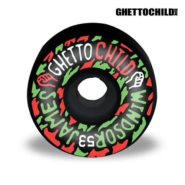 【GHETTO CHILD WHEEL】Windsor James BLACK サイズ:53mm 【ゲットーチャイルド】【スケートボード】【ウィール】
