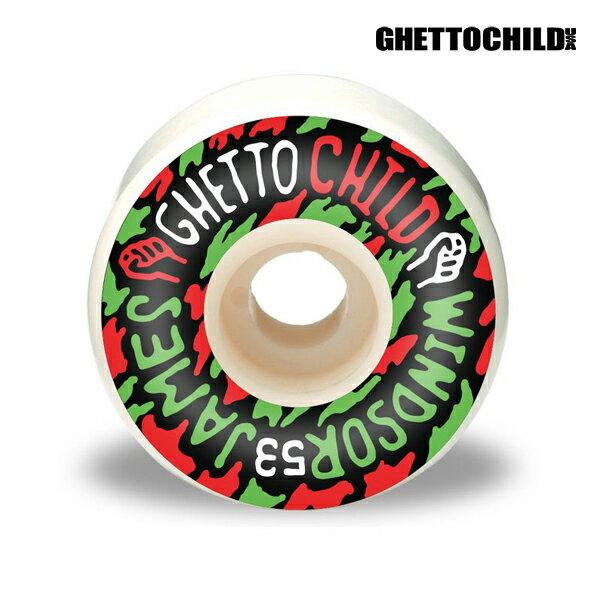 【GHETTO CHILD WHEEL】Windsor James サイズ:53mm 【ゲットーチャイルド】【スケートボード】【ウィール】