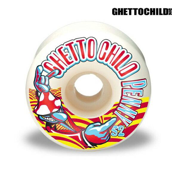 【GHETTO CHILD WHEEL】Tom Penny サイズ:52mm 【ゲットーチャイルド】【スケートボード】【ウィール】