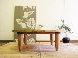 YEN110ローテーブルちゃぶ台センターテーブル座卓丸テーブル杉木製大川家具直径110cm