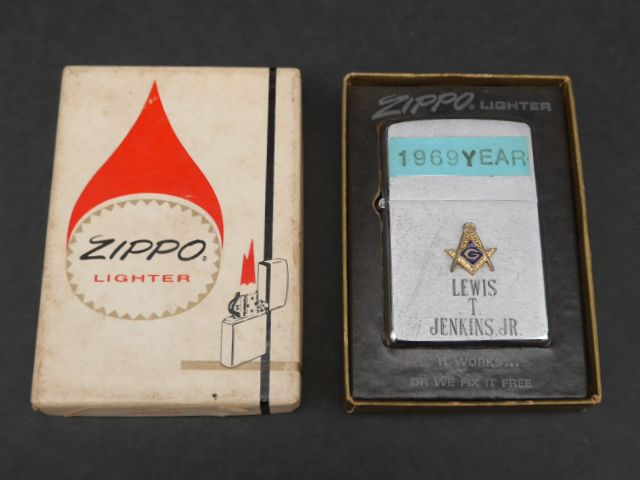 FREEMASON(フリーメイソン) Zippo(ジッポー) 1969年製 実物ビンテージ 箱付きデッドストック