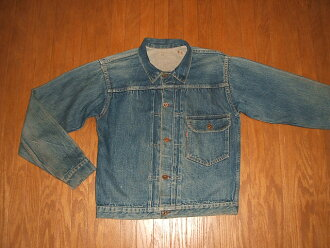 LEVIS( Levis) 506XX 1st( first) denim jacket slide-type シンチバック red tab one side Big-E 1940s real thing vintage