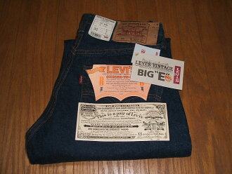 (Levis) LEVIS 501 Big-E (big E) 1960's model top button back 555 Valencia plant 1995-Reprint Edition MADE IN USA (made in USA) W32×L36 dead stock