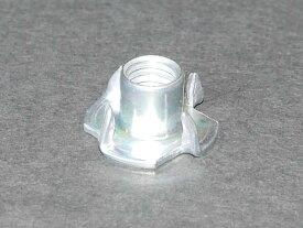 高品質 オチアイ社製 ボルトオンホールド取り付けに最適な爪付きナット(爪付きTナット) M10(10mm) 1個 材質 鉄 三価ホワイト(3価クロメート) クライミング用クライミングウォール(ボルダリング用ボルダリングウォール) プライベートウォール壁ボード製作用