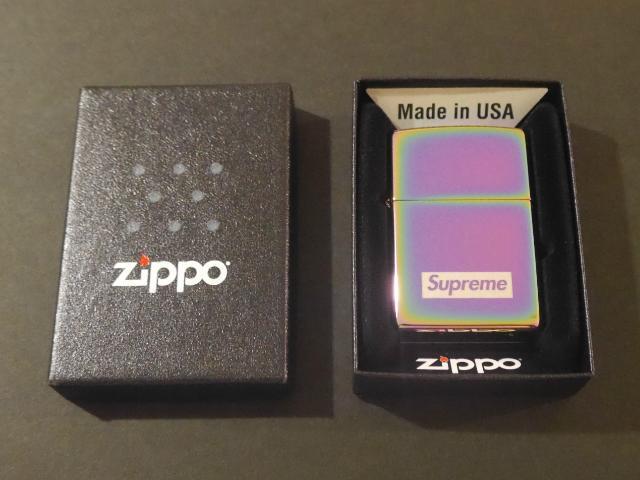 SUPREME(シュプリーム) Spectrum Iridescent Zippo(スペクトラム イリディセント ジッポライター) Box Logo(ボックスロゴ) 2016年秋冬モデル(2016AW) MADE IN USA(アメリカ製) デッドストック【中古】