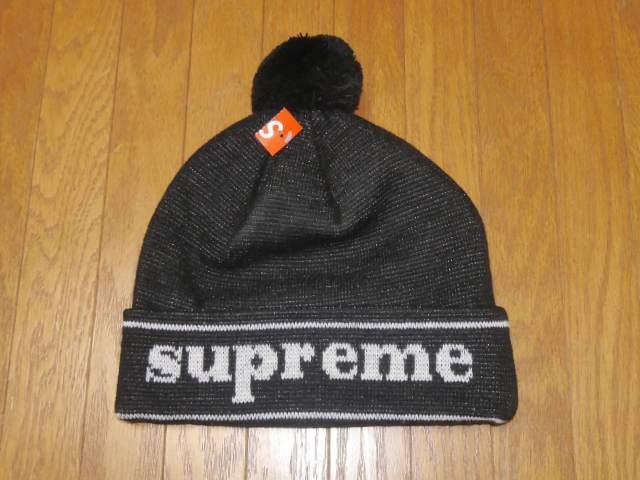 SUPREME(シュプリーム) Cuff Logo Beanie Black(カフロゴビーニー[ニット帽ニットキャップ] 黒ブラック) 2016年AW【中古】