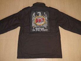 SUPREME(シュプリーム)×SLAYER(スレイヤー) Eagle M-65 Jacket Black(イーグルM-65ミリタリージャケット ブラック) Mサイズ 2016年秋冬モデル(2016AW) Thrash Metal(スラッシュメタル)【中古】