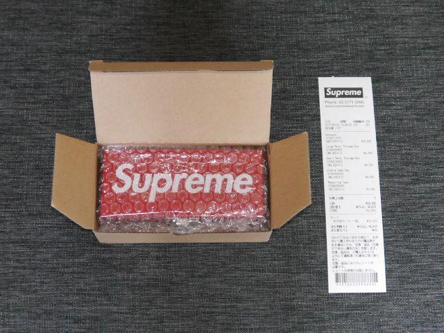 SUPREME(シュプリーム) Small Metal Storage Box(メタル ストレージ ボックス Sサイズ ツールボックス 道具箱 赤レッド) 2017年春夏モデル(2017SS)【中古】