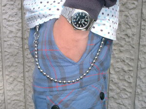 Wallet Chain(ウォレットチェーン) Stainless Steel Ball Chain(ステンレス製ボールチェーン) 30cm MADE IN JAPAN(日本製)