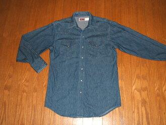 BIGMACBIG MAC(巨无霸)旧衣服粗斜纹布衬衫MADE IN USA(美国制造)