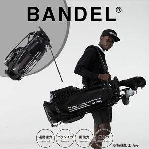 【マラソン中P10倍】【着後レビューでBANDELグッズ!】バンデル キャディバッグ 9.5インチ ゴルフバッグ BG-GB001 BANDEL GOLF スタンド式 スケルトン クリア 黒マグネット式ポケット サイレント 口