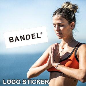 【着後レビューでBANDELグッズ!】BANDEL バンデル スタンダードロゴ ステッカーシール sticker logo サーフボード 耐水性 クーラーボックス ブラック ホワイト トレーニング アスリート バランス