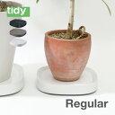 tidy ティディ Plantable プランタブル キャスター付き植木鉢トレー ブラック ホワイト ブラウン 黒 白 茶色 BLACK WHITE BROWN 台 観葉植物 トレイ プランター 受け