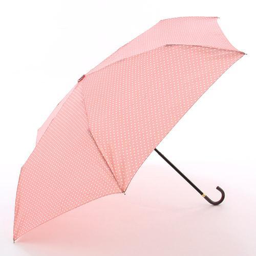 【折りたたみ】【レディース傘】傘 水玉 柄 スリム 折りたたみ 傘