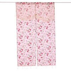 【のれん】【薔薇雑貨】のれんパンセアラローズアニバーサリーローズ150丈ピンク