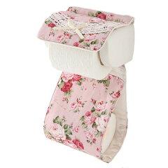 【ペーパーホルダー】【薔薇雑貨】トイレットペーパーホルダーパンセアラローズアニバーサリーローズピンク