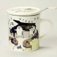 【マグカップ】【ネコ雑貨】ハーブマグキャットジャズナイト